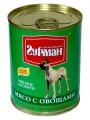 Консервы для собак Четвероногий Гурман Мясное ассорти мясо с овощами (340гр)