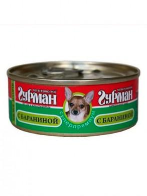 Консервы для собак Четвероногий Гурман Мясное ассорти с бараниной (100гр)