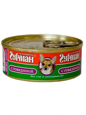 Консервы для собак Четвероногий Гурман Мясное ассорти с говядиной (100гр)