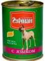 Консервы для собак Четвероногий Гурман Мясное ассорти с языком (340гр)