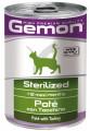 Консервы Gemon Cat Sterilised Turkey для стерилизованных кошек паштет индейка (400 гр)