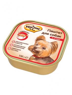 Консервы Мнямс для взрослых собак с говядиной (150 г)