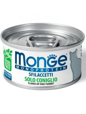 Консервы Monge Cat Monoprotein хлопья для кошек из кролика (80г)