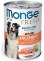 Консервы Monge Dog Fresh Chunks in Loaf для пожилых собак мясной рулет индейка с овощами (400г)