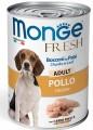 Консервы Monge Dog Fresh Chunks in Loaf для собак мясной рулет курица (400г)
