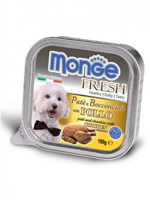 Консервы Monge Dog Fresh для собак курица (100 г)