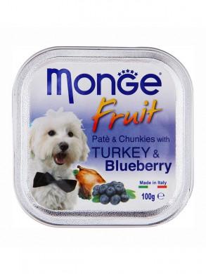 Консервы Monge Dog Fruit для собак индейка с черникой (100 г)