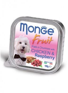Консервы Monge Dog Fruit для собак курица с малиной (100 г)