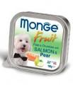 Консервы Monge Dog Fruit для собак лосось с грушей 100г