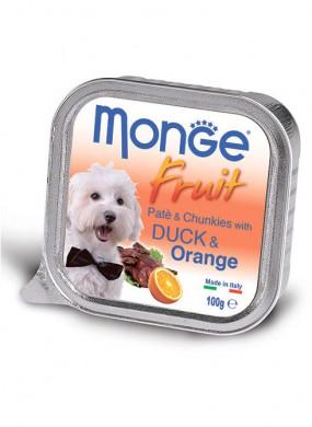 Консервы Monge Dog Fruit для собак утка с апельсином (100 г)