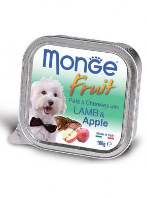 Консервы Monge Dog Fruit для собак ягненок с яблоком (100 г)