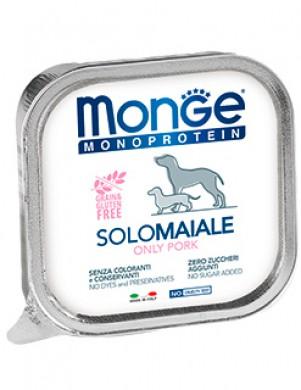 Консервы Monge Dog Monoproteico Solo для собак паштет из свинины (150 г)