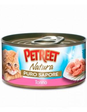 Консервы Petreet для кошек кусочки тунца с креветками в рыбном супе 70 г