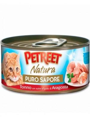 Консервы Petreet для кошек кусочки тунца с сурими со вкусом лобстера в рыбном супе 70 г