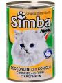 """Консервы Simba для кошек """"кусочки с кроликом"""" (24шт/уп  по 415 гр)"""