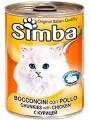 """Консервы Simba для кошек """"Кусочки с курицей"""" (24шт/уп  по 415 гр)"""