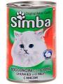 """Консервы Simba для кошек """"кусочки с мясом"""" (24шт/уп  по 415 гр)"""