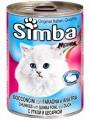 "Консервы Simba для кошек ""кусочки утка+цесарка"" (24шт/уп  по 415 гр)"