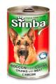 Консервы Simba для собак с кусочками мяса (24шт/уп  по 415 гр)