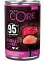Консервы Wellness Core 95 для взрослых собак из индейки с козлятиной и сладким картофелем 400 г