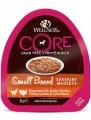 Консервы Wellness Core Savoury Medleys Small Breed из курицы с индейкой, морковью и зеленой фасолью для собак мелких пород 85 г