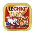 Консервы Lechat для кошек говядина/куриная печень 100 г
