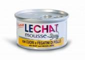 Консервы Lechat mousse для кошек сердце/куриная печень 85 г