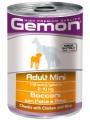 Консервы Gemon Dog Mini для собак мелких пород кусочки курицы с рисом 415 г