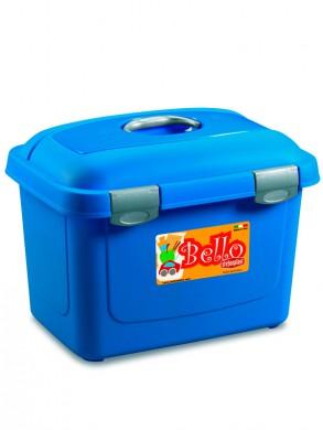 Контейнер для корма Bello 26л, синий (45х33х33см)