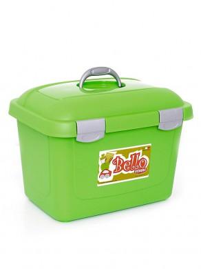 Контейнер для корма Bello 26л, зеленый (45х33х33см)
