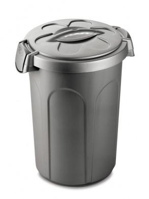 Контейнер для хранения корма Tom, 46 л для 16 кг корма, серебряный  (44,5x40x61 см)