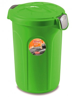 Контейнер для хранения корма Tom, 46 л для 16 кг корма, ярко зеленый (44,5x40x61 см)