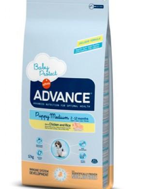 Корм Advance Baby Protect Medium для щенков с курицей и рисом (18кг)
