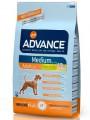 Корм Advance Medium Adult для собак средних пород с курицей и рисом (18кг)