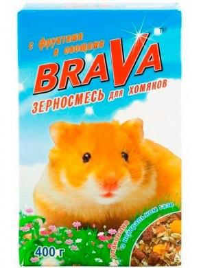Корм Брава для хомяков фрукты+овощи (400гр)