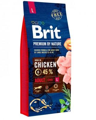 Корм Brit Premium Adult Large L для собак крупных пород (15кг)