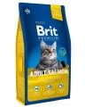 Корм Brit Premium Cat Adult Salmon для взрослых кошек с лососем в соусе