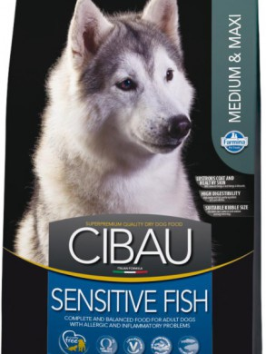 Корм Cibau Sensitive Fish Medium & Maxi (12кг)