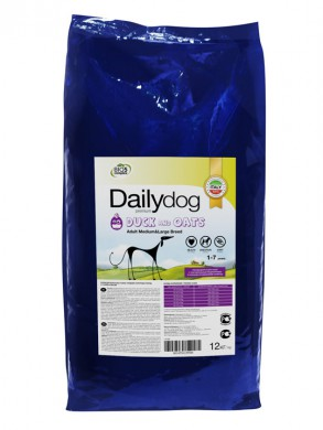 Корм Daily Dog Adult Medium & Large Breed Duck and Oats (12кг)