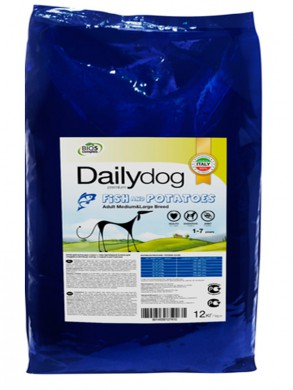 Корм DailyDog Adult Medium & Large Breed Fish & Potatoes 12кг