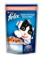 Корм для кошек Felix Аппетитные кусочки лосось цукини в желе (85гр)