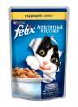 Корм для кошек Felix Аппетитные кусочки с курицей в желе (85гр)