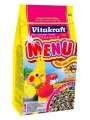 Корм для средних попугаев VitaKraft Parakeet Cockatiel Menu Vital (1кг)