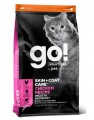 Корм GO! Natural holistic Refresh + Renew Chicken Cat Recipe для кошек и котят с цельной курицей, фруктами и овощами