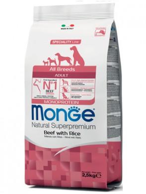 Корм Monge Dog All Breeds Beef and Rice для собак всех пород говядина с рисом (12 кг)