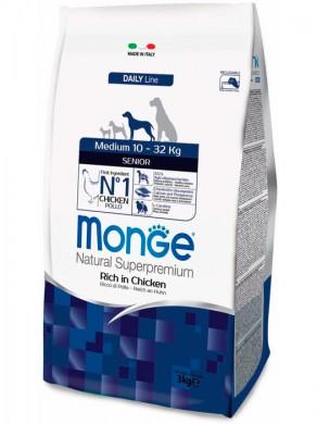 Корм Monge Dog Medium Senior для пожилых собак средних пород (12 кг)