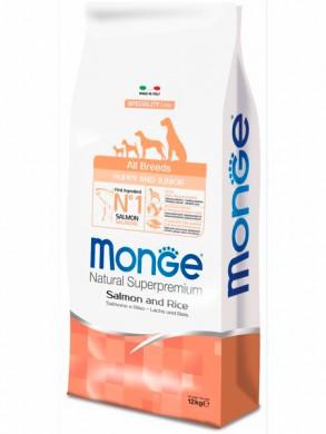 Корм Monge Dog Speciality Puppy&Junior Salmon&Rice для щенков всех пород лосось с рисом (12 кг)