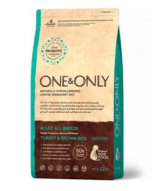 Корм One & Only All Breeds Turkey&Rice 12 кг