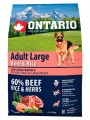 Корм Ontario Adult Large Beef & Turkey для собак крупных пород с говядиной и рисом