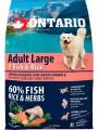 Корм Ontario Adult Large Fish & Rice для собак крупных пород с 7 видами рыбы и рисом